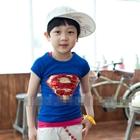 เสื้อแขนสั้น-SUPERMAN-บริ๊งค์ๆสีน้ำเงิน(5ตัว/pack)