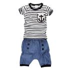 ชุดเสื้อกางเกงทีมกัปตัน-สีขาวดำ-(5-ตัว/pack)