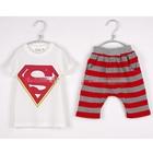 ชุดเสื้อกางเกงแก๊งค์-SUPERMAN-สีแดง-(5-ตัว/pack)