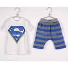 ชุดเสื้อกางเกงแก๊งค์-SUPERMANสีน้ำเงิน(5-ตัว/pack)