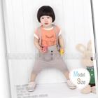 ชุดเสื้อกางเกงเอี๊ยมนกฮูก-สีส้มเทา-(5-ตัว/pack)