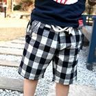 กางเกงขาสามส่วนลายตาราง-สีขาวดำ-(5ตัว/pack)