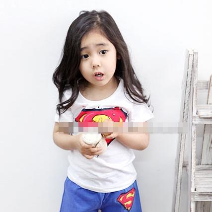 เสื้อแขนสั้น SUPERMAN ฮีโร่ สีน้ำเงิน (5ตัว/pack)