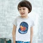 เสื้อแขนสั้นหมวกแก๊ป-Superman-สีเทา-(5ตัว/pack)