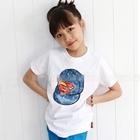 เสื้อแขนสั้นหมวกแก๊ป-Superman-สีขาว-(5ตัว/pack)