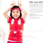 เสื้อแขนสั้นกระต่ายอ้วน-สีแดง-(5ตัว/pack)