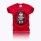 เสื้อแขนสั้นหมีฮีโร่-สีแดง-(5ตัว/pack)