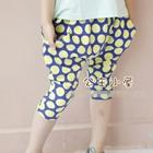กางเกงขาสามส่วนสีน้ำเงิน-จุดเหลือง-(5ตัว/pack)