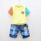 ชุดเสื้อกางเกงยีนส์-Paul-สีเหลือง-(6-ตัว/pack)