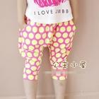 กางเกงขาสามส่วนสีชมพู-จุดเหลือง-(5ตัว/pack)