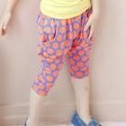 กางเกงขาสามส่วนสีน้ำเงิน-จุดส้ม-(5ตัว/pack)