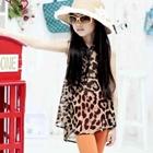 เสื้อชีฟองแขนกุดลายเสือดาว-สีน้ำตาล-(5ตัว/pack)