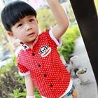 เสื้อเชิ๊ตแขนสั้น-Paul-Frank-สีแดง-(5ตัว/pack)