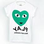 เสื้อยืดคอกลมแขนสั้น-Play-สีเขียว-(5ตัว/pack)