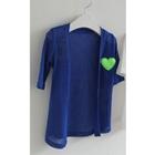 คาร์ดิแกนแขนสามส่วนหัวใจเล็ก-สีน้ำเงิน(5-ตัว/pack)
