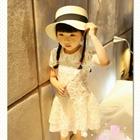 เดรสแขนสั้นตุ๊กตาปักดอกไม้-สีขาว-(5-ตัว/pack)