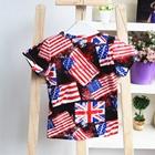 เสื้อยืดคอกลมแขนสั้นอังกฤษ-อเมริกา-(5ตัว/pack)