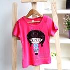 เสื้อยืดคอกลม-Cute-Girl-สีชมพู-(5ตัว/pack)