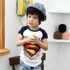 เสื้อแขนสั้น-SUPERMAN-สุดเท่ห์-สีขาว