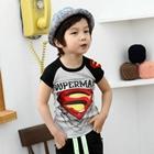 เสื้อแขนสั้น-SUPERMAN-สุดเท่ห์-สีเทา