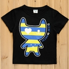 เสื้อแขนสั้นแมวเหมี๊ยวตัวลาย-สีดำ-(5size/pack)