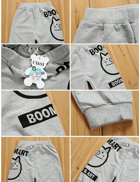 กางเกงขาสามส่วน Boom&Art สีดำ (4size/pack)