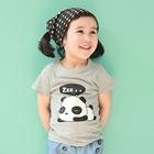 เสื้อแขนสั้น-Panda-Sleep-สีเทา-(5size/pack)