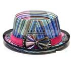 หมวกแฟนซีผูกโบว์-โทนสีฟ้า-(10-ใบ/แพ็ค)