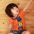 เสื้อแขนสั้นสวนสัตว์ของหนู-สีส้ม-(5size/pack)