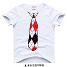 เสื้อยืดแขนสั้นเนคไทวินเทอร์-สีขาว-(5size/pack)
