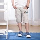 กางเกงขาสามส่วนฟุตบอล-สีกากี-(5size/pack)