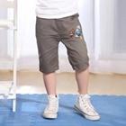 กางเกงขาสามส่วนฟุตบอล-สีเทา-(5size/pack)