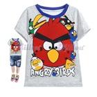 เสื้อยืดแขนสั้น-Angry-Bird-สีเทา-(6size/pack)