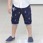กางเกงขาสามส่วนหน้าน้อย-สีน้ำเงิน-(5ตัว/pack)