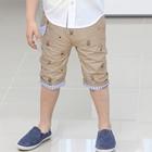 กางเกงขาสามส่วนหน้าน้อย-สีกากี-(5ตัว/pack)