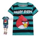 เสื้อยืดแขนสั้น-Angry-Bird-สีเขียวดำ-(6size/pack)