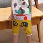 กางเกงขาสามส่วนแพนด้าตากลม-สีเหลือง-(5ตัว/pack)