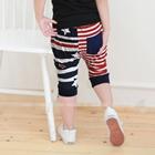 กางเกงขาสามส่วน-USA-STAR-สีแดง--(5ตัว/pack)