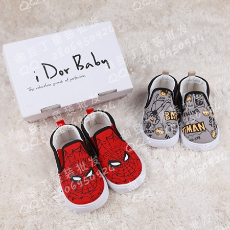 รองเท้าเด็ก Batman สีเทา (5คู่/แพ็ค)