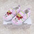 รองเท้าเด็กลายทารกแว่นแดง-สีชมพู-(5คู่/แพ็ค)