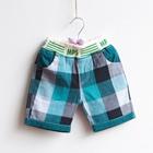 กางเกงขาสั้นลายตาราง-MPS-สีฟ้า-(5-ตัว/pack)