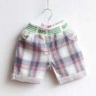 กางเกงขาสั้นลายตาราง-MPS-สีเทา-(5-ตัว/pack)