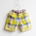 กางเกงขาสั้นลายตาราง-Stars-สีเหลือง-(5-ตัว/pack)
