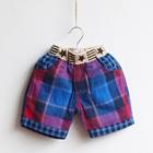 กางเกงขาสั้นลายตาราง-Stars-สีน้ำเงิน-(5-ตัว/pack)