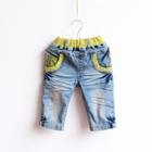 กางเกงยีนส์ขายาว-D-_-C-สีฟ้า-(5-ตัว/pack)