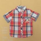 เสื้อเชิ๊ตตาราง-Paul-Frank-สีแดง-(5ตัว/pack)