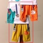 ชุดเสื้อกางเกงปลาน้อย-สีเหลือง-(5ตัว/pack)