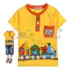 เสื้อยืดแขนสั้นรถไฟปู๊น-ปู๊น-สีเหลือง-(5size/pack)