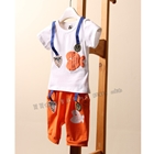 ชุดเสื้อกางเกงปลาน้อย-สีส้ม-(5ตัว/pack)