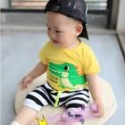 ชุดเสื้อกางเกง-Dinosaur-Summer-สีเหลือง(5ตัว/pack)